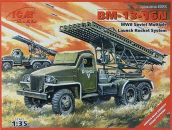 BM13-16N Soviet Multiple Launch Rocket System -- Plastic Model Military Truck Kit -- 1/35 -- #35512