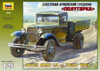 Zvezda 1/35 WWII Soviet Light Truck GAZ-AA 3602
