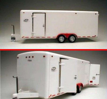 21-Ft Tandem Two-Axle Tag-Along Trailer -- Plastic Model Trailer Kit -- 1/24 Scale -- #21