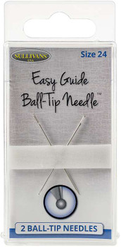 Sullivan's Easy Guide Ball-Tip Needles 2/Pkg Size 24 (40mm)