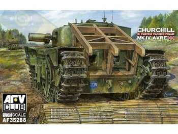 1/35 Churchill Mk IV AVRE (Armored Vehicle, Royal Engineers) Tank w/Fascine Carrier Frame