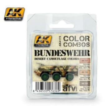 Bundeswehr Desert Camouflage Acrylic Set, 17ml by AK Interactive, Mo