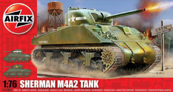 Airfix 1:72 Scale Sherman Tank Model Kit 1303