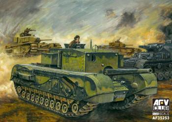 AFV Club British 3 Inch Churchill Tank -- Plastic Model Military