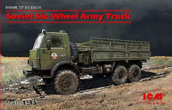 Soviet Six-Wheel Army Truck (New Tool) -- Plastic Model Military Vehicle Kit -- 1/35 Scale -- #35001
