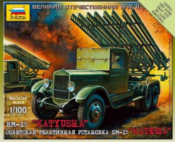 Zvezda - 6128 1/100 Katyusha Soviet Rocket Launcher - Plastic Model