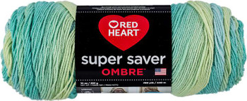 Red Heart Super Saver Ombre Yarn Seaside