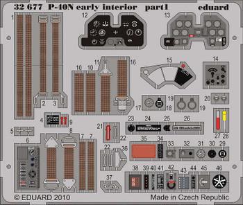Eduard Models Aircraft- P40N Early Interior -- Plastic Model