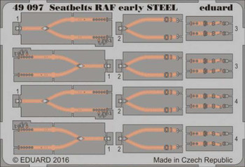1/48 Aircraft- Seatbelts RAF Early Steel (Painted)