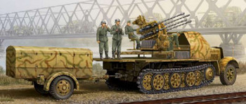 2cm Flak 38 - Sd.Kfz.7/1 Late Version, 1/35 by Trumpeter, Model Vehi