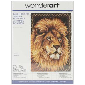 "Wonderart Latch Hook Kit 27""X40"" Lion"
