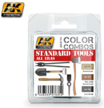 Standard Tool Colors All Eras Acrylic Paint Set, 17ml by AK Interact