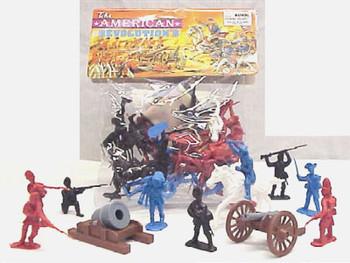 50 Piece Revolutionary War Plastic Army Men 65mm Soldier Figure Toy