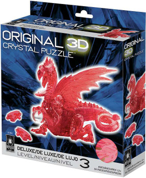 3-D Licensed Crystal Puzzle  Red Dragon