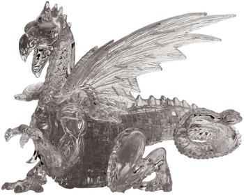 3-D Licensed Crystal Puzzle  Black Dragon
