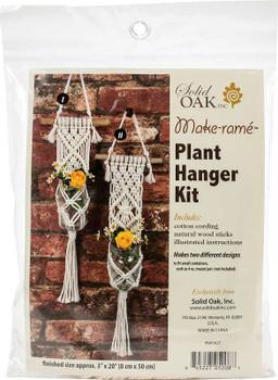 Macrame Plant Hanger Kit Two Minis