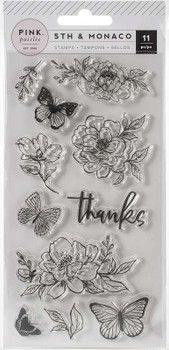 5th & Monaco Clear Acrylic Stamps 11/Pkg