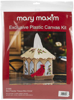 "Mary Maxim Plastic Canvas Tissue Box Kit 5"" Bird Feeder (7 Count)"