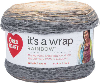 Red Heart It's A Wrap Rainbow Yarn Foggy