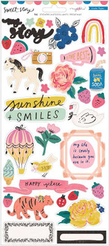Maggie Holmes Sweet Story Cardstock Stickers 94/Pkg