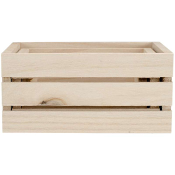 Wood Craft Crate Caddy Set 3/Pkg