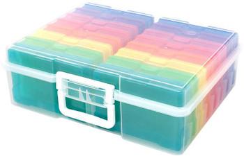 """We R Craft & Photo Translucent Plastic Storage 15""""X12""""X5"""" Includes 16 Mini Cases"""
