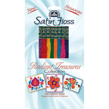 DMC Satin Floss Collection Pack 8.7yd 8/Pkg Radiant Treasures