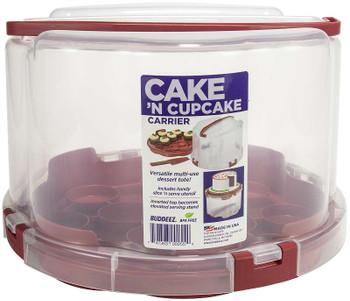 Buddeez Round Cake Carrier Red