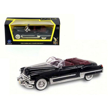 1949 Cadillac Coupe De Ville Black 1/43 Diecast Model Car by Road Signature