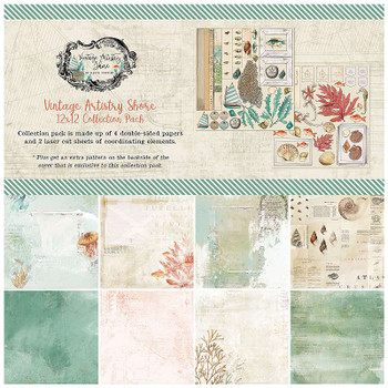 "49 And Market Collection Pack 12""X12"" Vintage Artistry Shore"