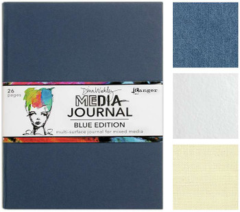 "Dina Wakley Media Journal 8""X10"" Blue Edition"