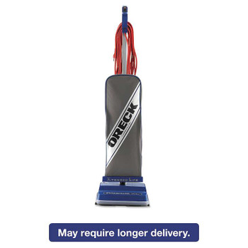 Oreck Commercial XL Commercial Upright Vacuum,120 V, Gray/Blue, 12 1/2 x 9 1/4 x 47 3/4