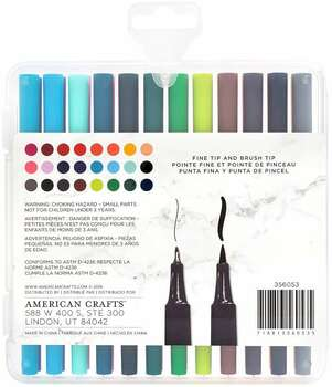 Art Supply Basics Dual Tip Pens 24/Pkg