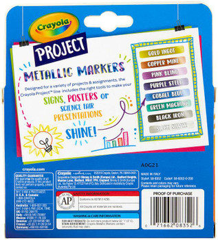 Crayola Project Markers 8/Pkg Assorted Colors