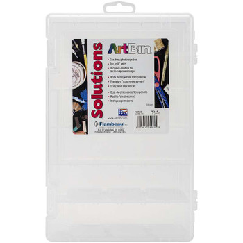 "ArtBin Solutions Box 6-12 Compartments  10.75""X7.375""X1.75"" Translucent"