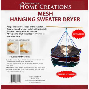 "Mesh Hanging Sweater Dryer 26"" White"