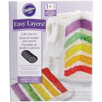 """5-Layer Cake Pan Set 5/Pkg Round 6""""X6""""X.75"""""""