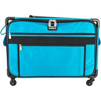 "TUTTO Machine On Wheels Case 23""X14.25""X14"" Turquoise"