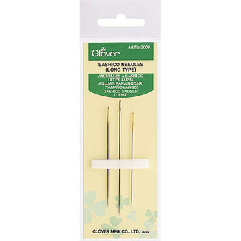 Sashico Needles Long Assorted Sizes 3/Pkg