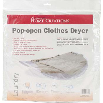 "Collapsible Sweater Dryer 30""X29.5"" White"