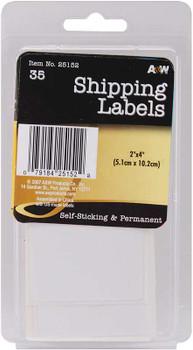 "Labels Shipping 2""X4"" 35/Pkg"