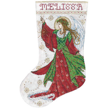 "Angel Of Joy Stocking Counted Cross Stitch Kit 17"" Long 14 Count"