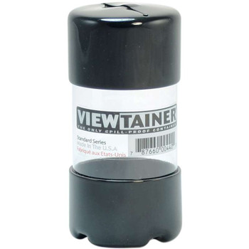 "Viewtainer Slit Top Storage Container 2""X4"" Black"