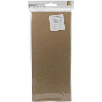 "American Crafts #10 Envelopes (4.125""X9.5"") 25/Pkg Kraft"