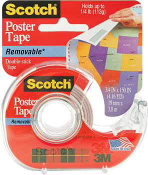 "Scotch Removable Poster Tape .75""X150"""