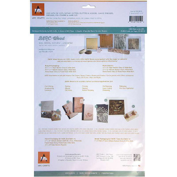 "BARC Wood Sheet W/Adhesive Backing 8.5""X11"" White Birch"