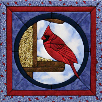 "Cardinal Quilt Magic Kit 12""X12"""