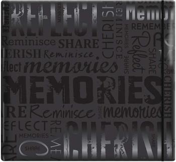 "MBI Gloss Post Bound Album 12""X12"" Memories - Black"