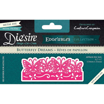 Die'sire Edge'ables Cutting & Embossing Die Butterfly Dreams