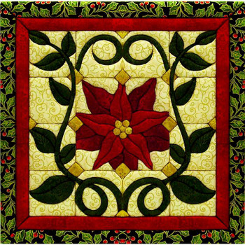 "Christmas Poinsettia Quilt Magic Kit 12""X12"""